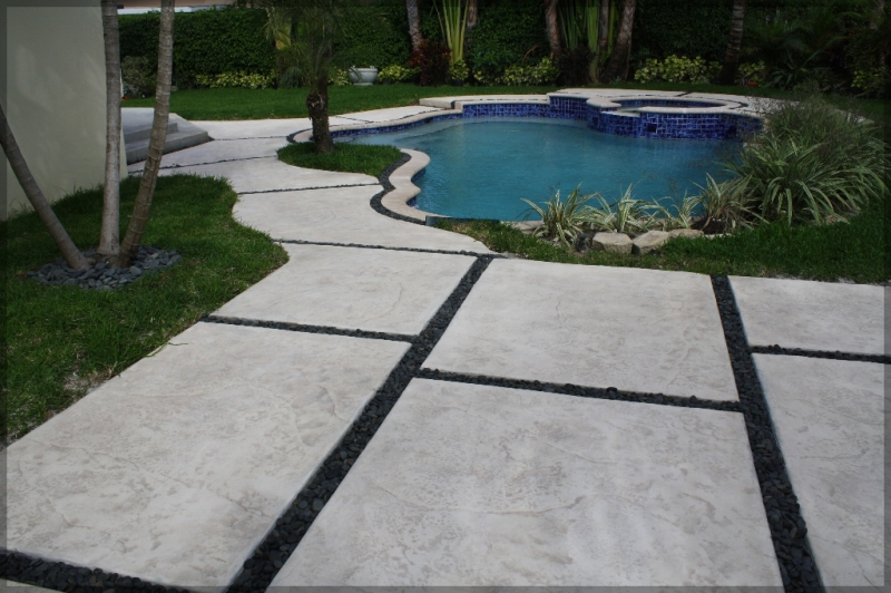 Decorative Cement Slabs : Stamped concrete pads driveway patio pool pavers