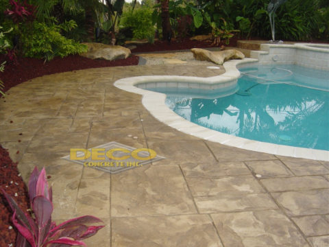 Stamped Concrete Pool in Miami