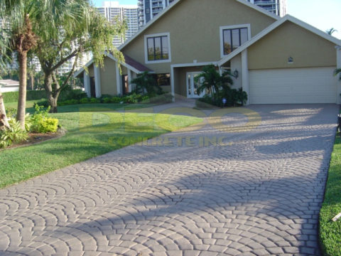 Stamped Concrete Driveway in Fort Lauderdale, FL