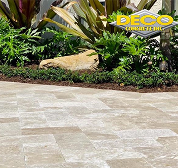 Travertine Tile Pavers and Driveway Pavers in Miami, Kendall