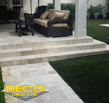 Outdoor living flooring enhancements